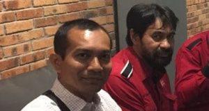 Jubir Partai Aceh, Teungku Jamaika bersama Ketum PA, Muzakir Manaf (Foto/Ist)