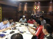 Suasana rapat di KONI Aceh, Sabtu (10/3). (Foto/Aldin NL)