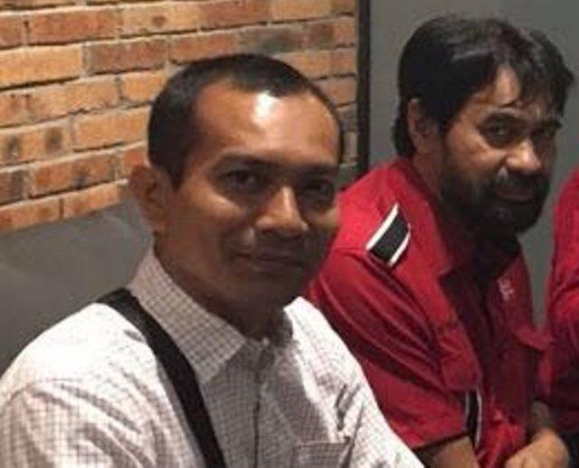 Jurubicara Partai Aceh (PA) Syardani M. Syarif atau akrab disapa Teungku Jamaica bersama Ketua DPA Partai Aceh, Muzakir Manaf. (Foto/Ist)