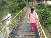 Salah satu jembatan yang dibangun melalui Otonomi Khusus (Otsus) di Gampong Tanah Dayoh, Pidie. (Foto/Muhammad Riza)