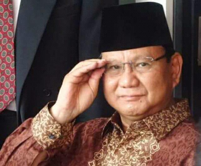 Letjen (Purn) TNI Prabowo Subianto. (Foto/Ist)