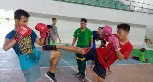 Para atlet Muaytahi Pidie siap diberangkatkan dan bertarung di kejuaran PORA Aceh di Aceh Tengah. (Foto/Ist)