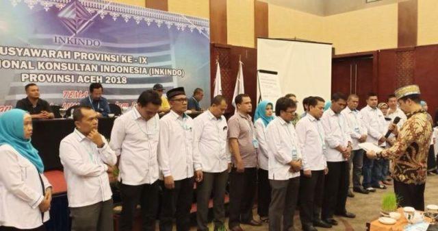 Pengukuran DPP Inkindo Aceh periode 2018-2022 di Hermes Hotel Banda Aceh, Sabtu, (5/5/2018) (Foto/Ist)