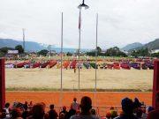 Walau Diguyur Hujan Pembukaan Popda Aceh ke XV sukses. (Foto/Bahtiar Gayo)
