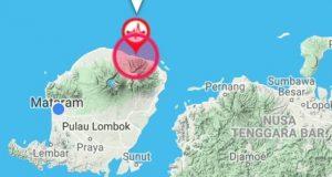 Gempa Bumi di Lombok Timur via twitter/@INDONESIAinLOVE