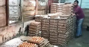 Pedagang telur ayam di kawasan Gampa, Meulaboh, Aceh Barat. Hingga kini harga telur ayam yang didatangkan dari Medan, Sumatera Utara, berkisar Rp1.300 hingga Rp1.400/butir atau Rp41.000-Rp42.000/papan. (Foto/Dedi)