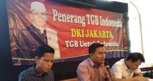 Penerang TGB Indonesia menyampaikan keterangan pers tentang dukungan mereka kepada TGB sebagai Cawapres. (Foto/Ist)