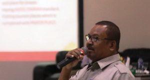 Amiruddin, Plt. Kepala Dinas Kebudayan dan Pariwisata Aceh saat menyampaikan presentasinya. (Foto/Ist)