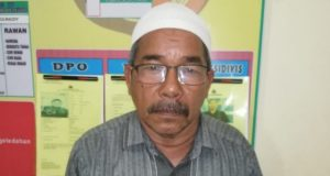 Syarifuddin, Kepala Desa (Keuchik) Lhok Bintang Hu, Kecamatan Tanah Jambo Aye, Aceh Utara, melaporkan kasus penganiayaan, atas dirinya. (Foto/Zainal Abidin)