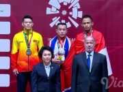 Surahmat (kanan belakang) raih perunggu untuk indonesia di Asian Games 2018. (Foto/Ist)