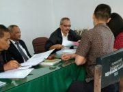 Suasana sidang perdana sengketa antara konsumen dengan PLN di BPSK Medan, Kamis (2/8/2018). (Foto/Yuni)