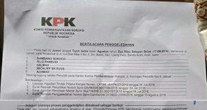 BAP ( Berita Acara Penggeledahan) dari KPK. (Foto/dok)