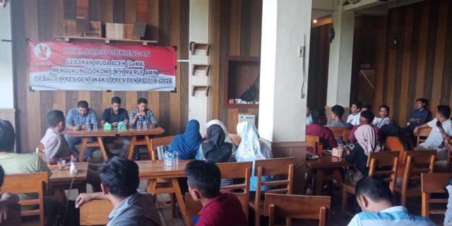 Gerakan Muda Aceh (GeMA) Deklarasikan Dukungan Jokowi-KH Ma'Ruf Amin. (Foto/Gito Rolis)