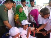 Kegiatan imunisasi MR terhadap siswa SD di Aceh Besar. (Foto/Ist)