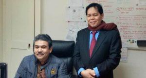 Dr.Amirsyah Tambunan (kanan) bersama Ahmad Mun'im, Konselor Bidang Ekonomi di Frankfurt, Jerman. (Foto/Ist)