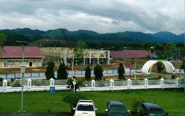 Jantho Sport Center (JSC), lokasi pembukaan PORA XIII, yang akan digelar meriah. (Foto/Ist)