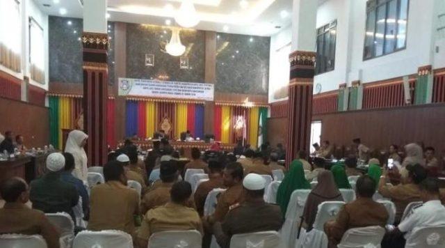 Sidang Paripurna RAPBK 2019 Kabupaten Gayo Lues. (Foto/Ist)