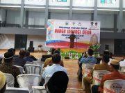 Bupati Aceh Barat, H Ramli MS, menghadiri kegiatan Bursa Inovasi Desa Tahun 2018 yang dipusatkan di GOS Meulaboh, Rabu (28/11/2018). (Foto/Dedi Iskandar)