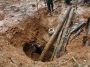 Salah satu kegiatan penambangan ilegal di Geumpang Pidie, Aceh. (Foto/Antaranews/Aceh).