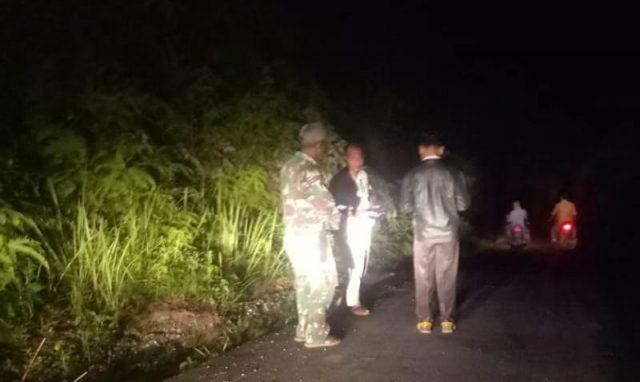 Muspika Kluet Timur melakukan patroli kembalinya harimau di Desa Pucok Limbang, Kecamatan Kluet Timur, Kabupayen Aceh Selatan.(Foto/Ist)