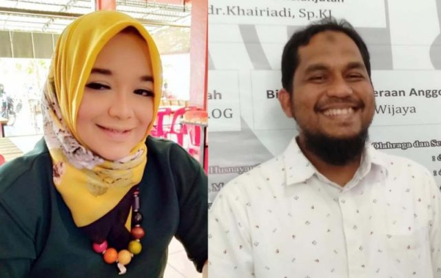dr.Arika Husnayanti Aboebakar, Sp.OG dan dr.Faisal, Sp.A, kandidat calon Ketua IDI Pidie. (Foto/Muhammad Riza)